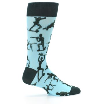 Image of Toy Army Figures Men's Dress Socks (side-1-24)