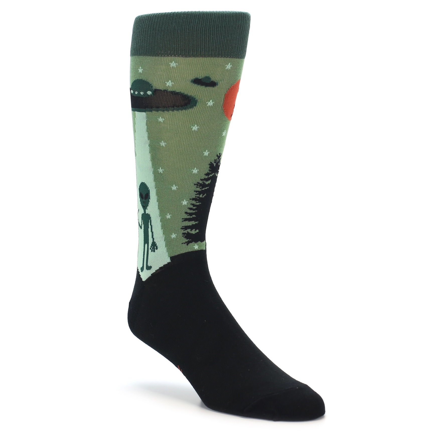 1f35b00ebc9a Green Aliens UFO Men's Dress Socks - Sock it to Me
