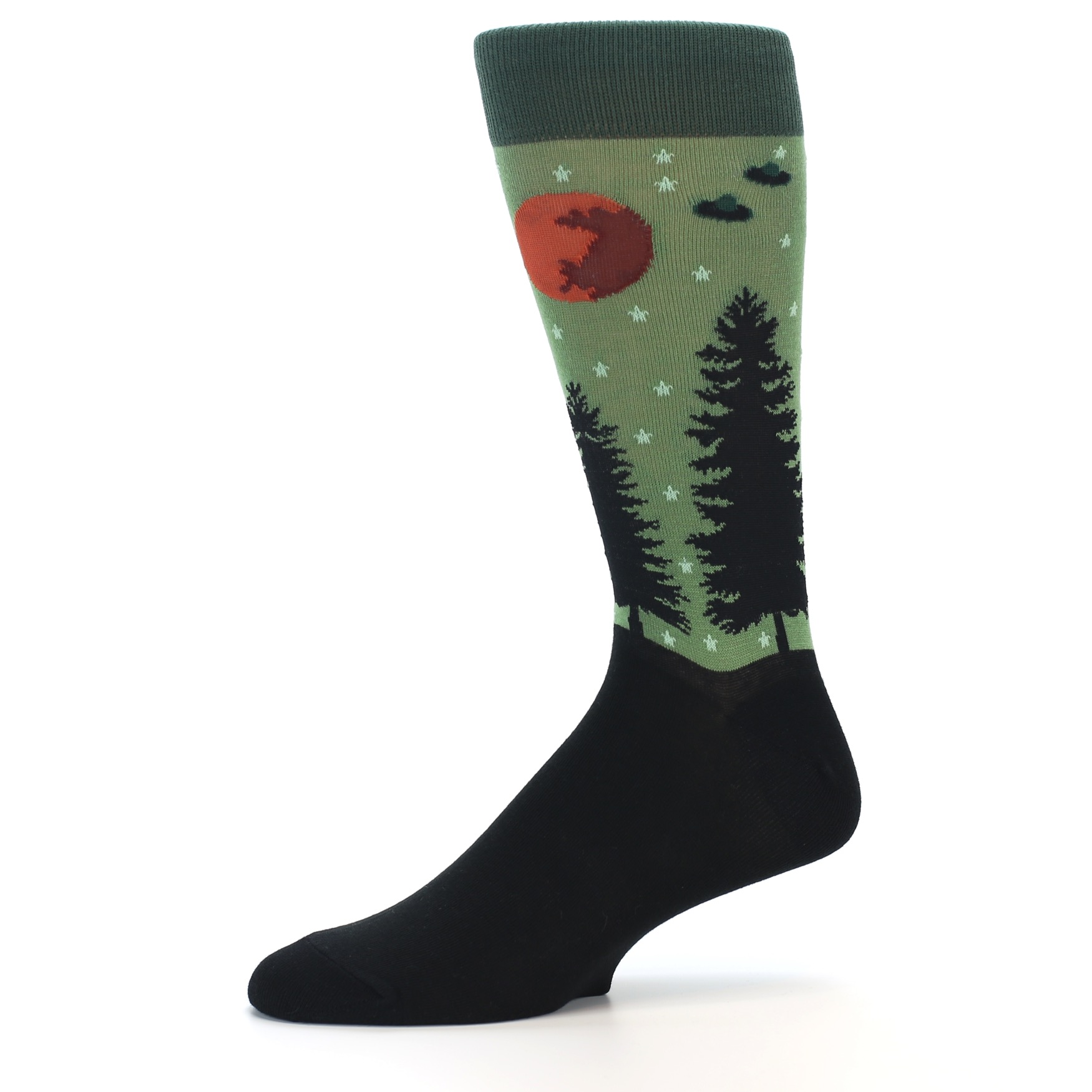aa1060d6a036 Image of Green Aliens UFO Men's Dress Socks (side-2-10)