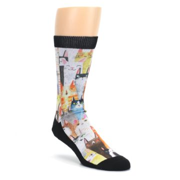 Cat-Party-Mens-Casual-Socks-Good-Luck-Socks