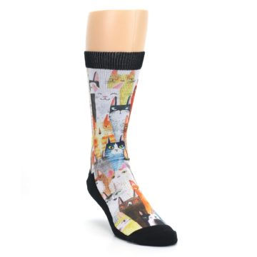 Novelty Cat Party Socks for Men