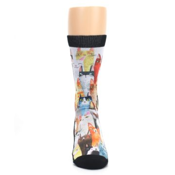 Image of Cat Party Men's Casual Socks (front-04)
