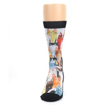 Image of Cat Party Men's Casual Socks (front-05)