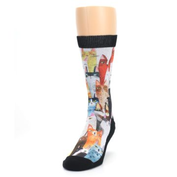 Image of Cat Party Men's Casual Socks (side-2-front-06)