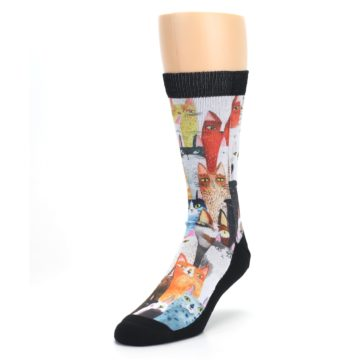 Image of Cat Party Men's Casual Socks (side-2-front-07)