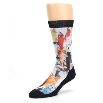 Image of Cat Party Men's Casual Socks (side-2-front-08)