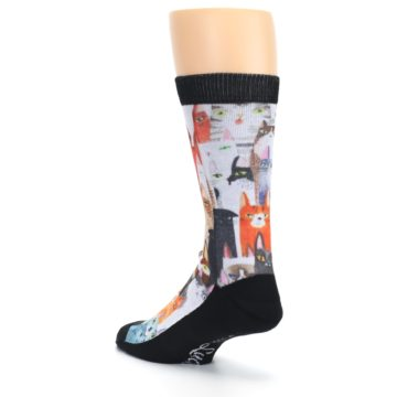 Image of Cat Party Men's Casual Socks (side-2-back-15)