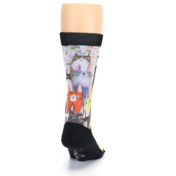 Image of Cat Party Men's Casual Socks (back-19)