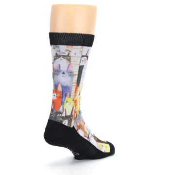 Image of Cat Party Men's Casual Socks (side-1-back-21)