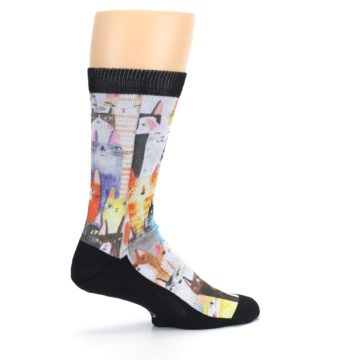 Image of Cat Party Men's Casual Socks (side-1-23)