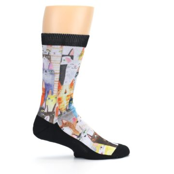 Image of Cat Party Men's Casual Socks (side-1-24)