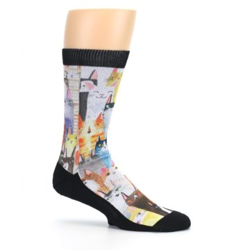 Image of Cat Party Men's Casual Socks (side-1-25)