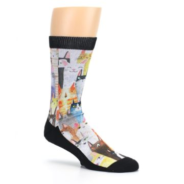 Image of Cat Party Men's Casual Socks (side-1-26)