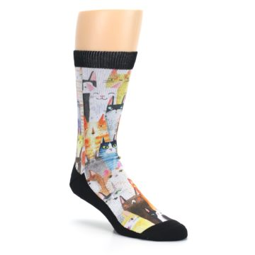Image of Cat Party Men's Casual Socks (side-1-27)