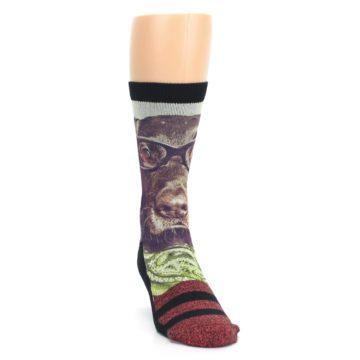 Image of Hipster Dog Men's Casual Socks (side-1-front-03)