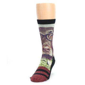 Image of Hipster Dog Men's Casual Socks (side-2-front-06)