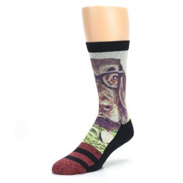 Image of Hipster Dog Men's Casual Socks (side-2-front-08)