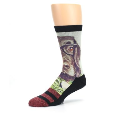 Image of Hipster Dog Men's Casual Socks (side-2-09)