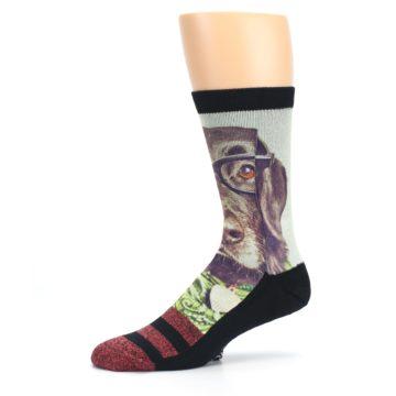 Image of Hipster Dog Men's Casual Socks (side-2-10)
