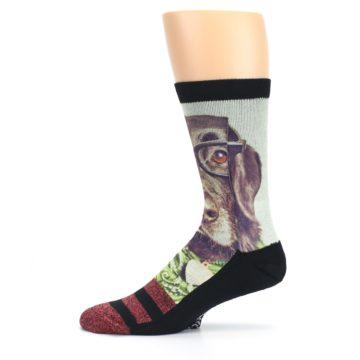 Image of Hipster Dog Men's Casual Socks (side-2-11)