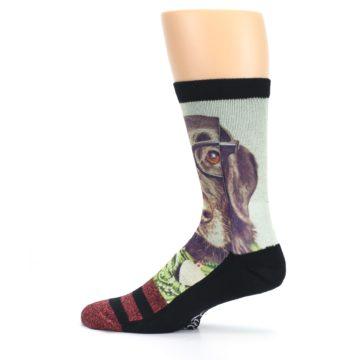Image of Hipster Dog Men's Casual Socks (side-2-12)