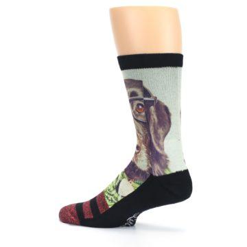 Image of Hipster Dog Men's Casual Socks (side-2-13)