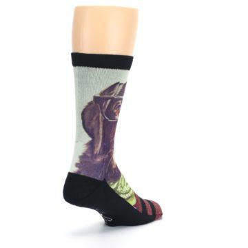 Image of Hipster Dog Men's Casual Socks (side-1-back-21)