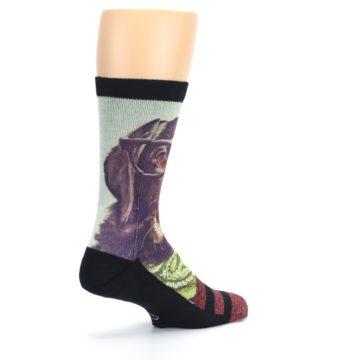 Image of Hipster Dog Men's Casual Socks (side-1-back-22)