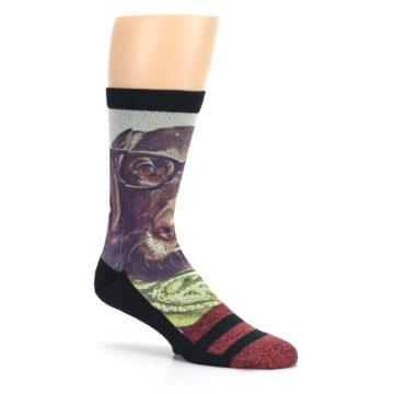 Image of Hipster Dog Men's Casual Socks (side-1-26)