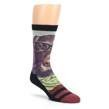 Image of Hipster Dog Men's Casual Socks (side-1-27)