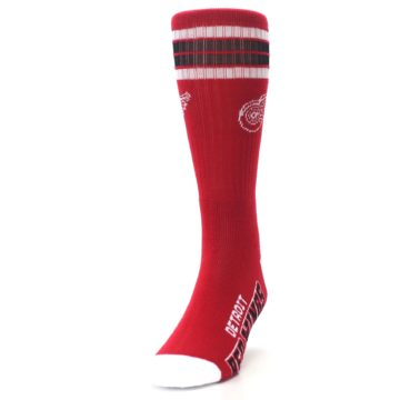 Image of Detroit Red Wings Men's Athletic Crew Socks (side-2-front-06)