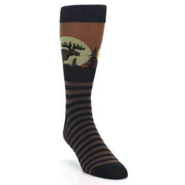 Image of Brown Moose Men's Dress Socks (side-1-front-02)
