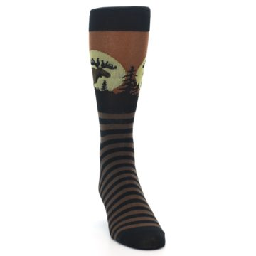 Image of Brown Moose Men's Dress Socks (side-1-front-03)