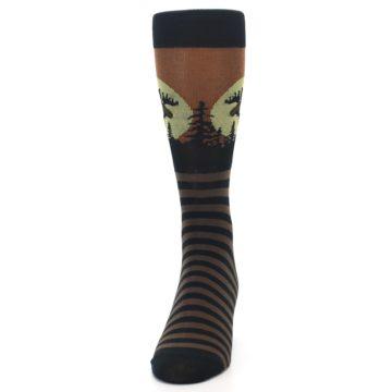 Image of Brown Moose Men's Dress Socks (front-05)