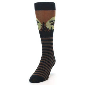 Image of Brown Moose Men's Dress Socks (side-2-front-06)