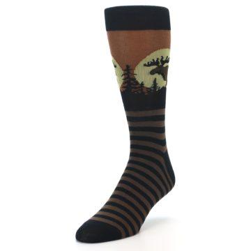 Image of Brown Moose Men's Dress Socks (side-2-front-07)