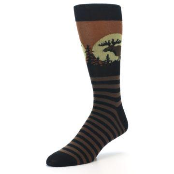 Image of Brown Moose Men's Dress Socks (side-2-front-08)