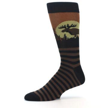 Image of Brown Moose Men's Dress Socks (side-2-10)