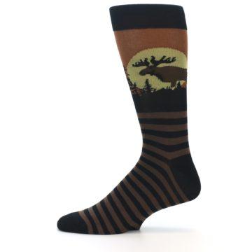 Image of Brown Moose Men's Dress Socks (side-2-11)