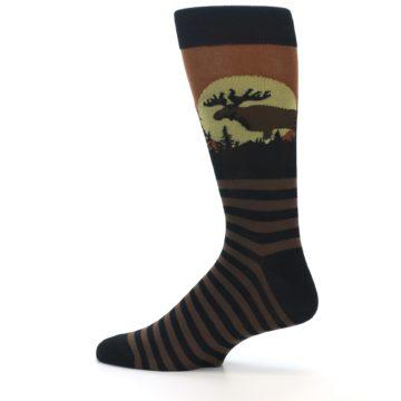 Image of Brown Moose Men's Dress Socks (side-2-12)