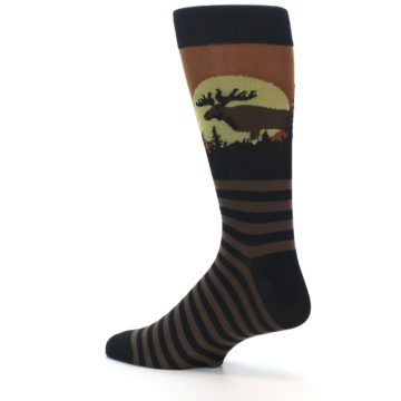 Image of Brown Moose Men's Dress Socks (side-2-13)