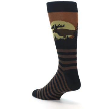Image of Brown Moose Men's Dress Socks (side-2-back-14)