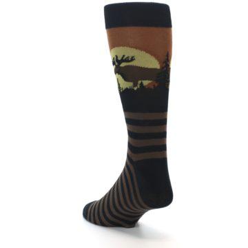 Image of Brown Moose Men's Dress Socks (side-2-back-15)