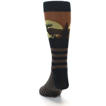 Image of Brown Moose Men's Dress Socks (side-2-back-16)