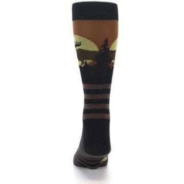 Image of Brown Moose Men's Dress Socks (back-17)