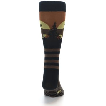 Image of Brown Moose Men's Dress Socks (back-18)