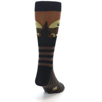 Image of Brown Moose Men's Dress Socks (back-19)