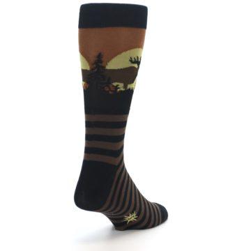 Image of Brown Moose Men's Dress Socks (side-1-back-20)