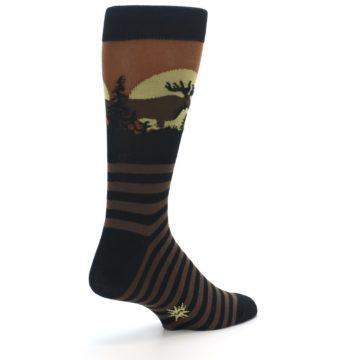 Image of Brown Moose Men's Dress Socks (side-1-back-21)