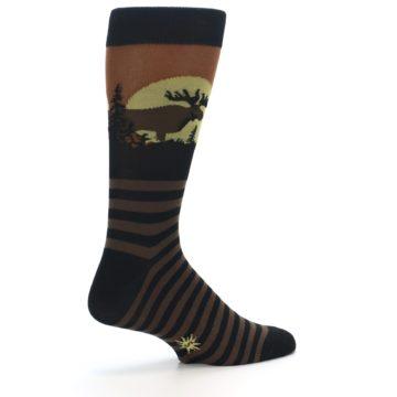 Image of Brown Moose Men's Dress Socks (side-1-back-22)